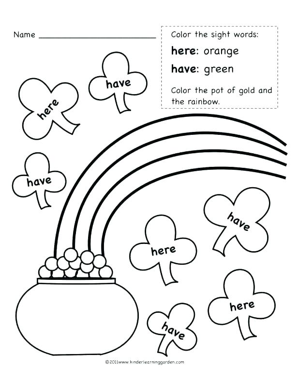 618x800 Sight Word Coloring Page Sight Word Coloring Page Green Color