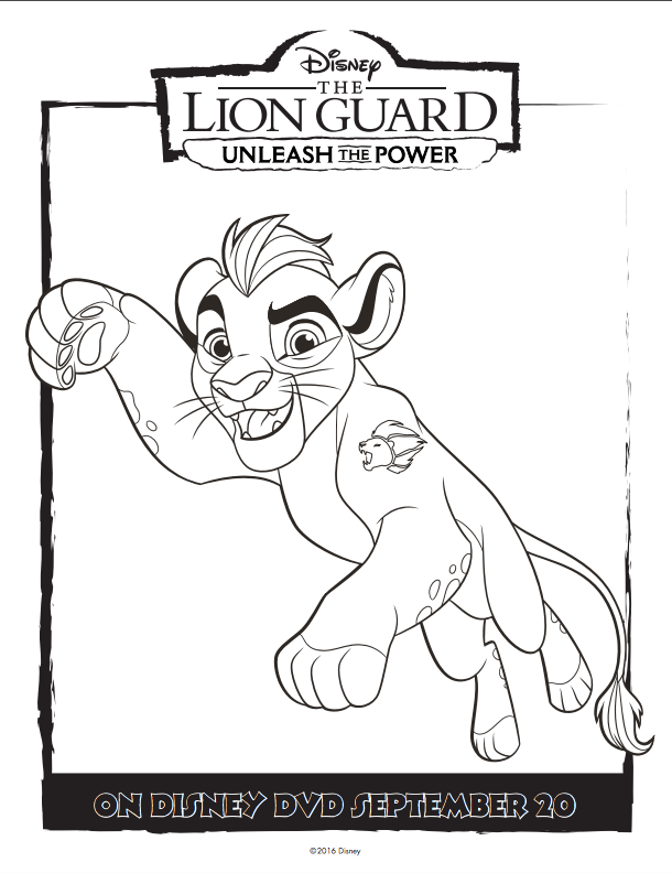 610x792 Disney The Lion Guard Free Coloring Pages