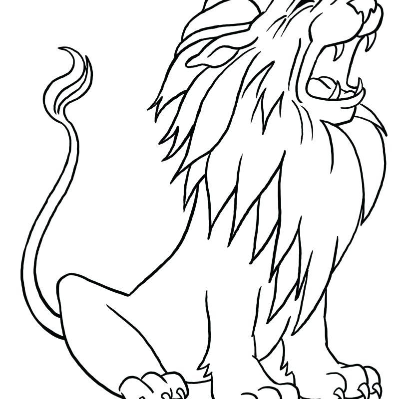 817x800 Lion Color Page And Coloring Pages Lion Color Page Lion King