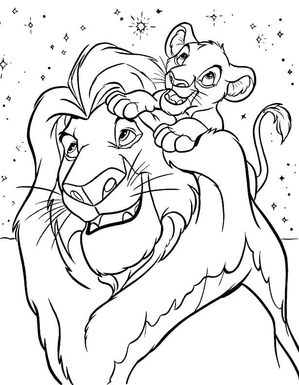 615x792 Lion Color Page Coloring Page Lion And Mouse Bunga Lion Guard