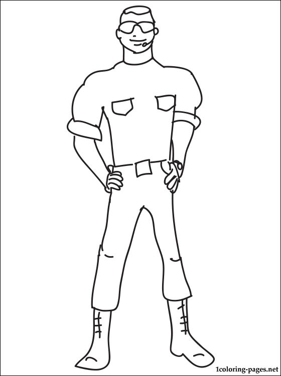 560x750 Security Guard Coloring Page Coloring Pages