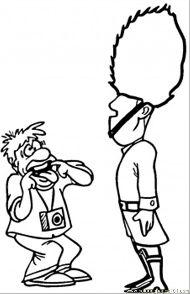 650x1006 Tourist And Guard Coloring Page