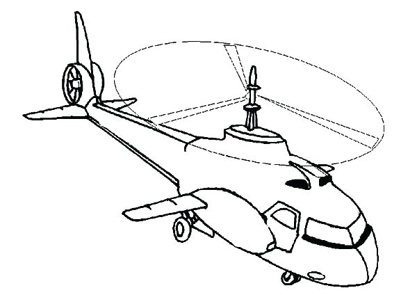 600x424 Helicopter Coloring Page