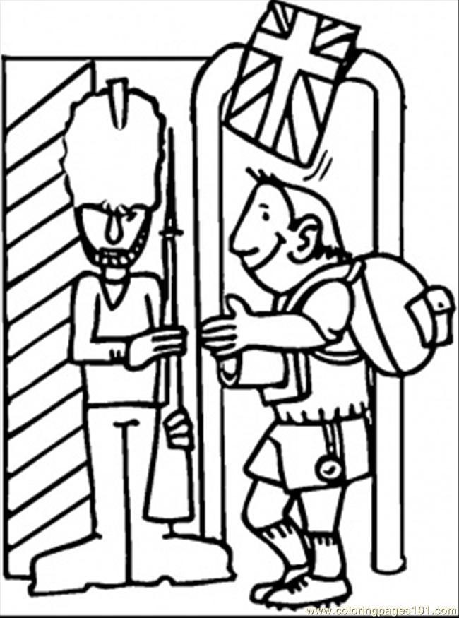 650x875 British Guard Coloring Page