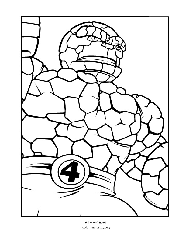 612x792 Super Hero Squad Coloring Pages