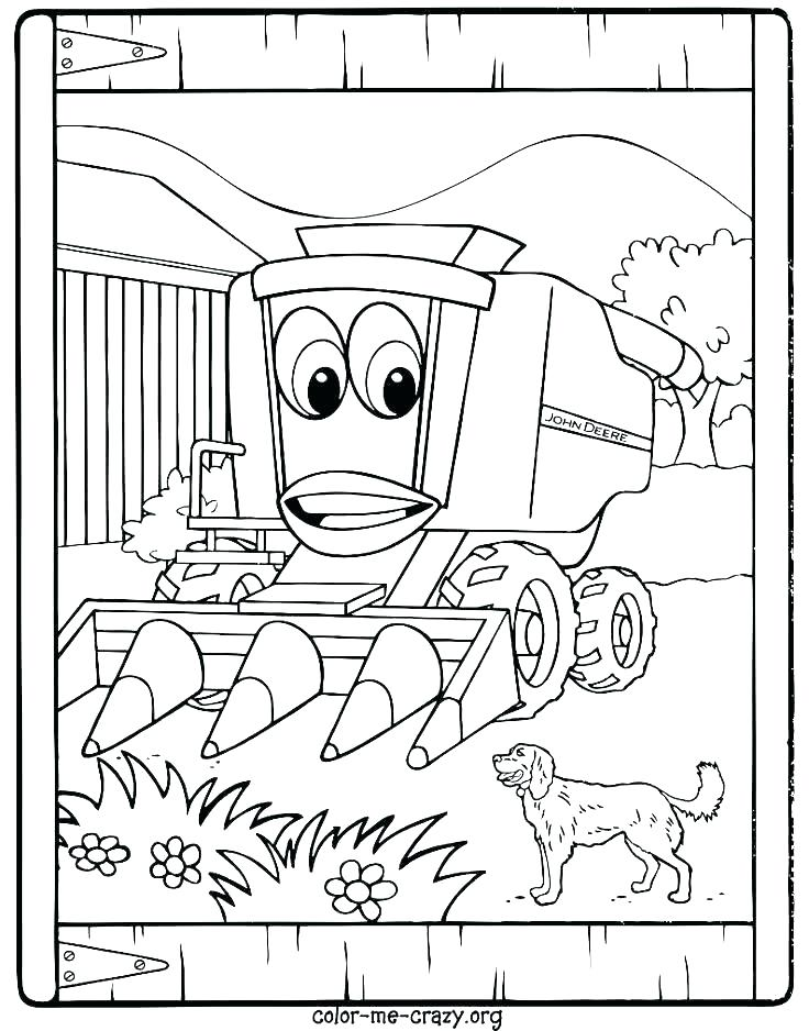 736x938 Tractor Color Pages Tractor Coloring Page Photos Johnny Tractor