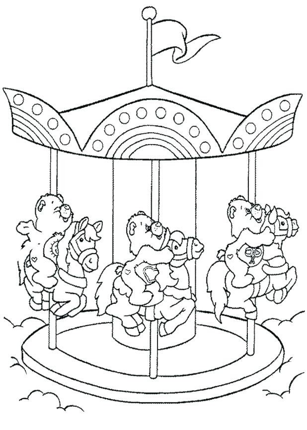 618x865 Carousel Coloring Page Carousel Coloring Pages Secret Color Your