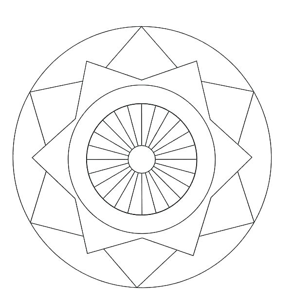 600x632 Free Printable Geometric Coloring Pages For Adults Patterns
