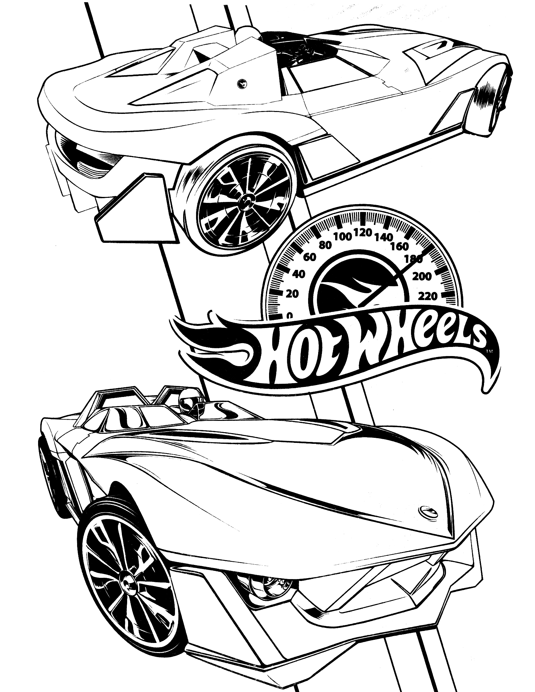 1700x2200 Hot Wheels Coloring Pages