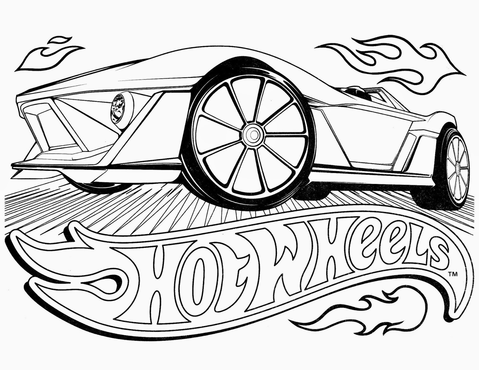 1600x1237 Hot Wheels Coloring Pages Hotwheels Color Simple Wheel Page Acpra