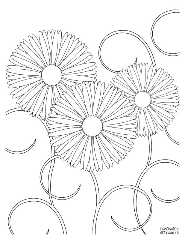 618x800 Printable Designs To Color Free Printable Flower Coloring Pages