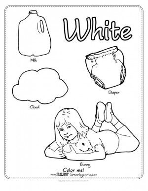 Color White Coloring Pages