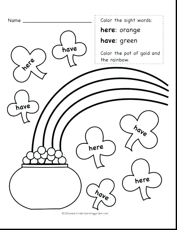 618x800 Rainbow Coloring Page With Color Words Sight Word Coloring Pages