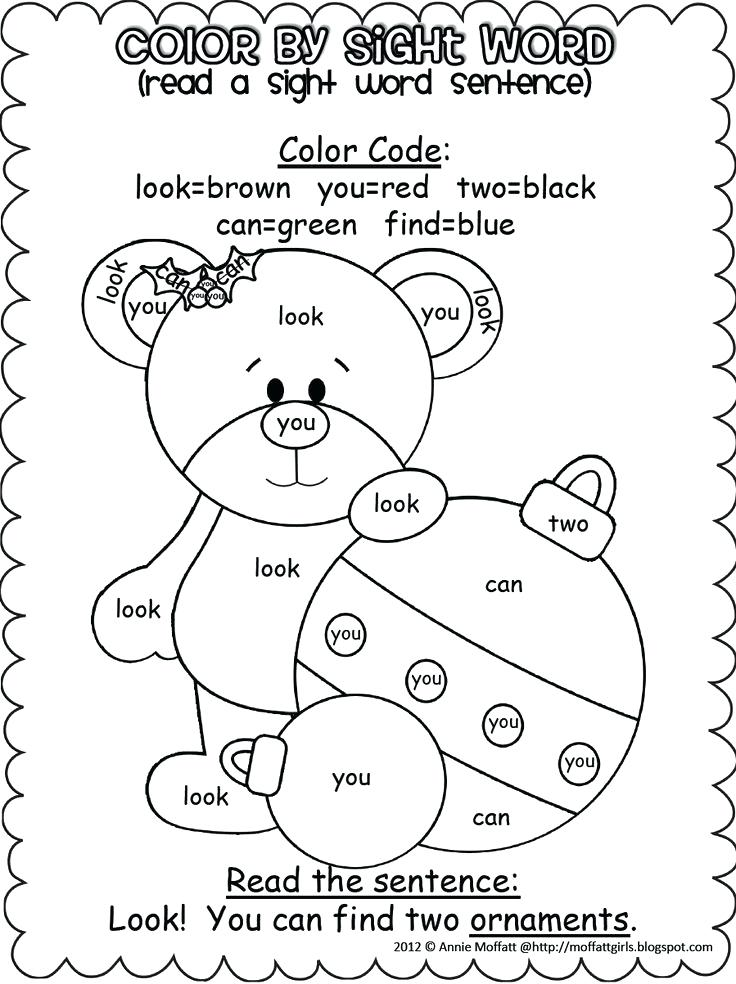 736x984 Sight Word Christmas Coloring Sheets Free Sight Word Coloring