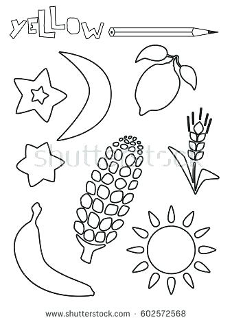 338x470 Painting Worksheets For Kindergarten Yellow Color Activity Sheet