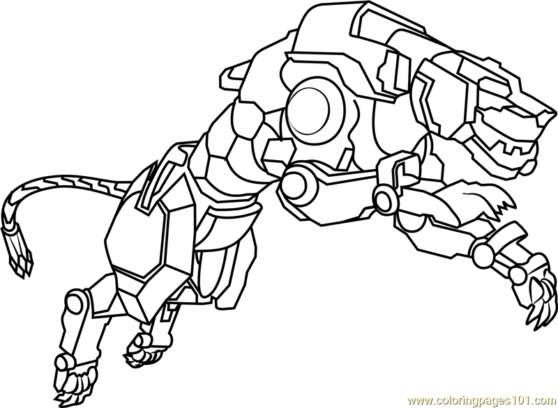 800x586 Yellow Lion Coloring Page