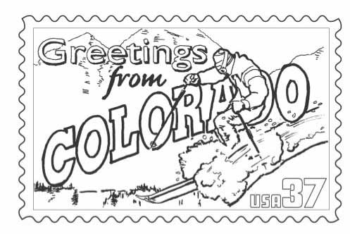 497x332 Colorado State Stamp Coloring Classbrain's State Reports State