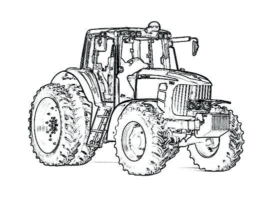 550x425 Pin Drawn Tractor Coloring Page Pencil And In Color Pin Drawn