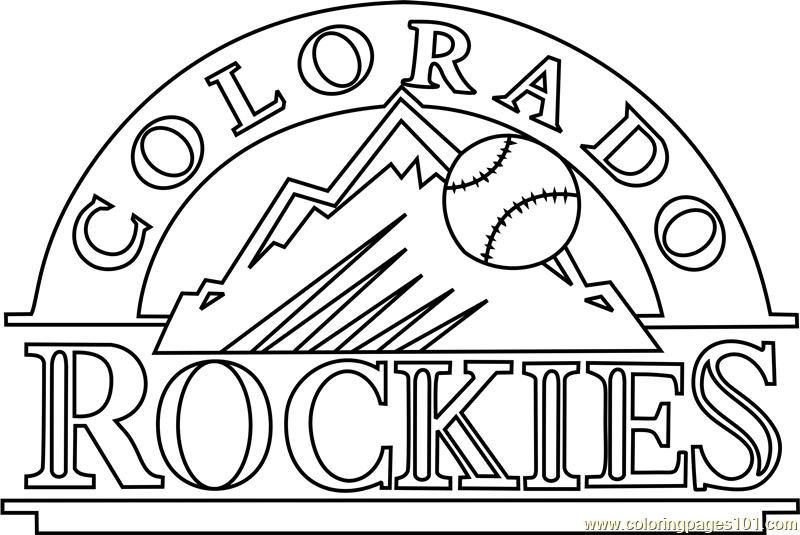 Colorado Rockies Coloring Pages At Getdrawings Free Download