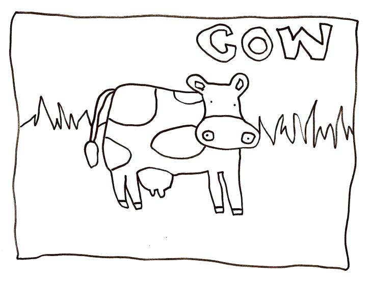 728x552 Pictures Color Cow Logo Creative Design Vector To Coloring Pages