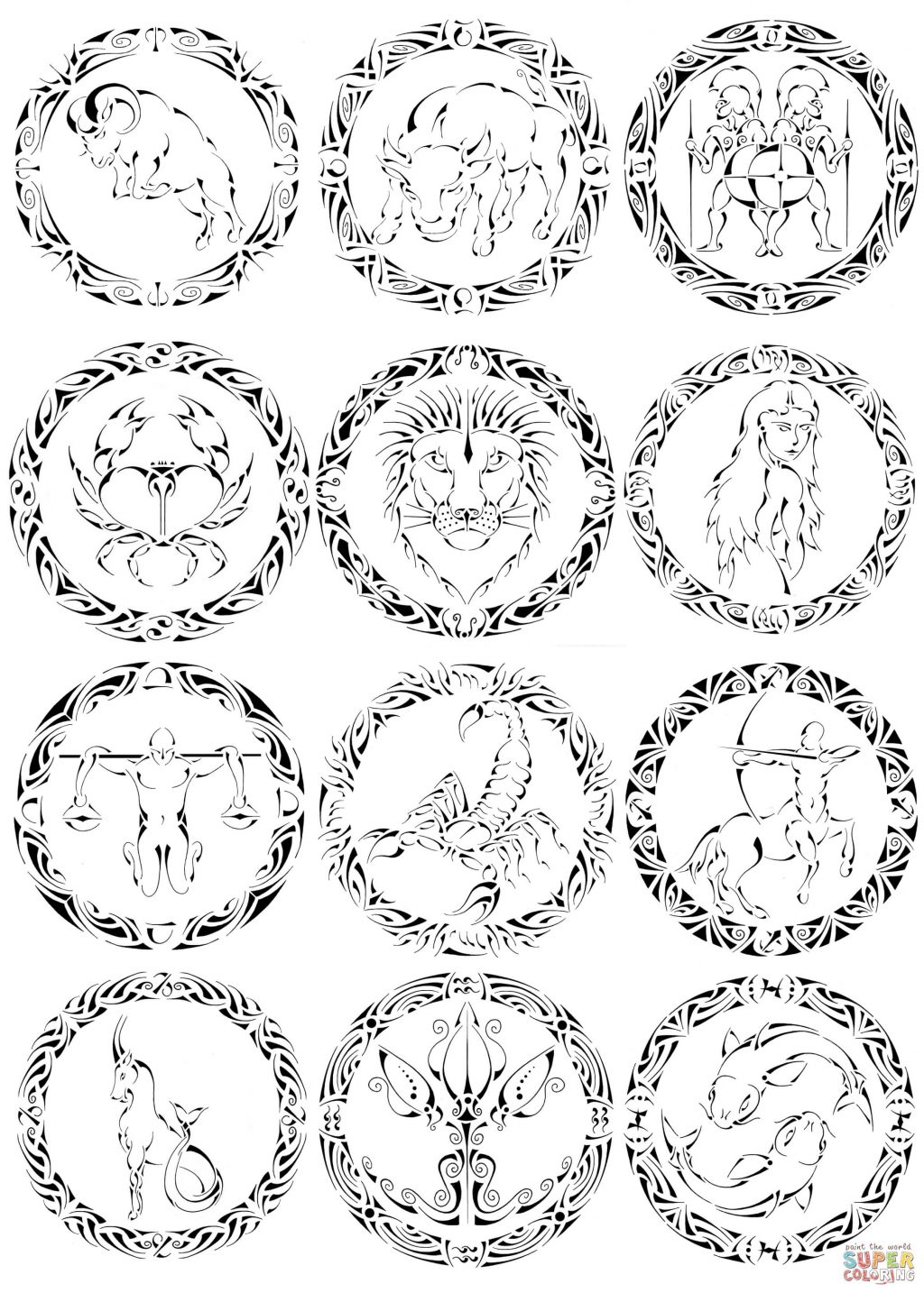 1024x1434 Drawn Zodiac Color Pencil And In Coloringook Christmas Photo Ideas
