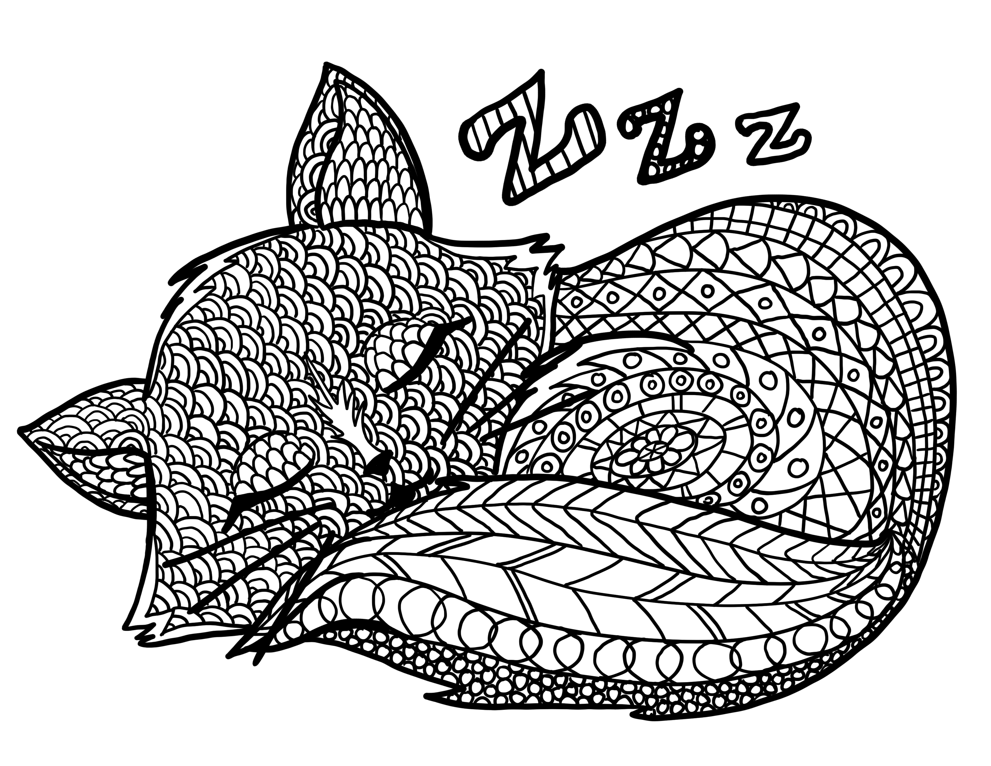 3300x2550 Hey Mom! Here's A Relaxing Coloring Page For You Colored Pencils
