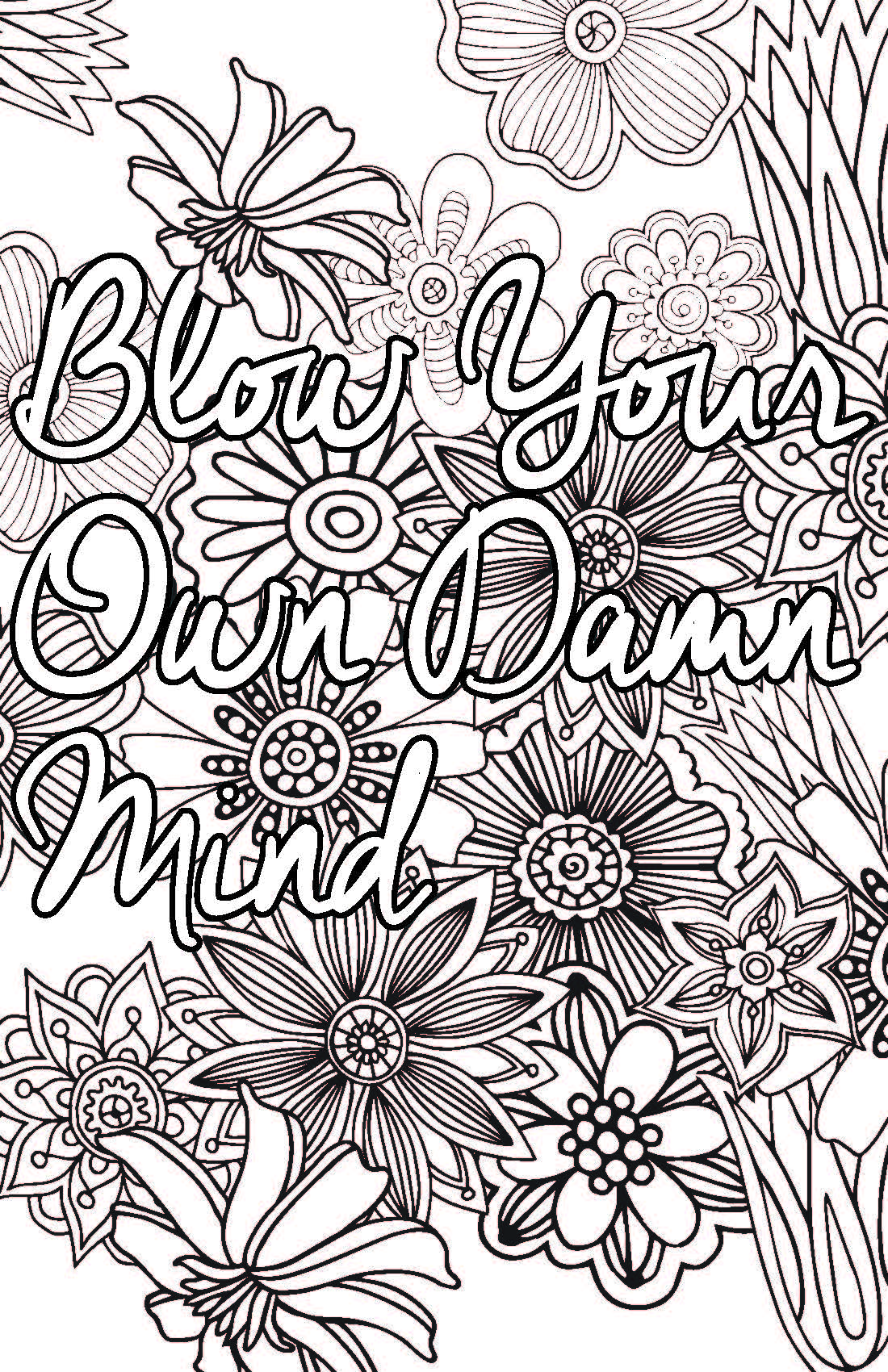 1100x1700 Adult Coloring Pages That Say Exactly What You Need To Hear