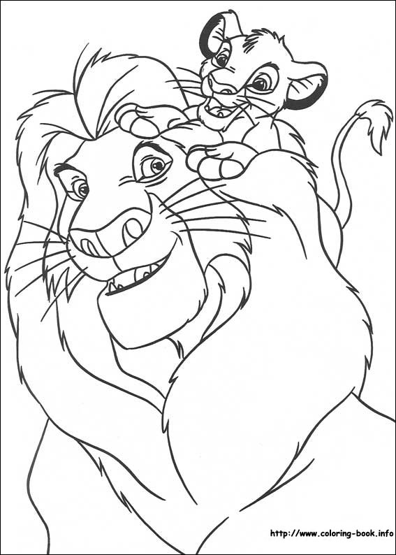 567x794 Lion King Coloring Pages