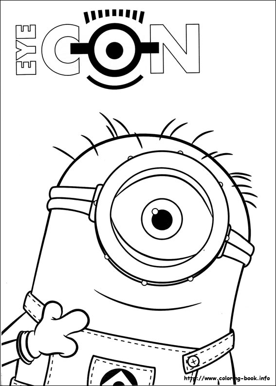 567x794 Minions Coloring Picture
