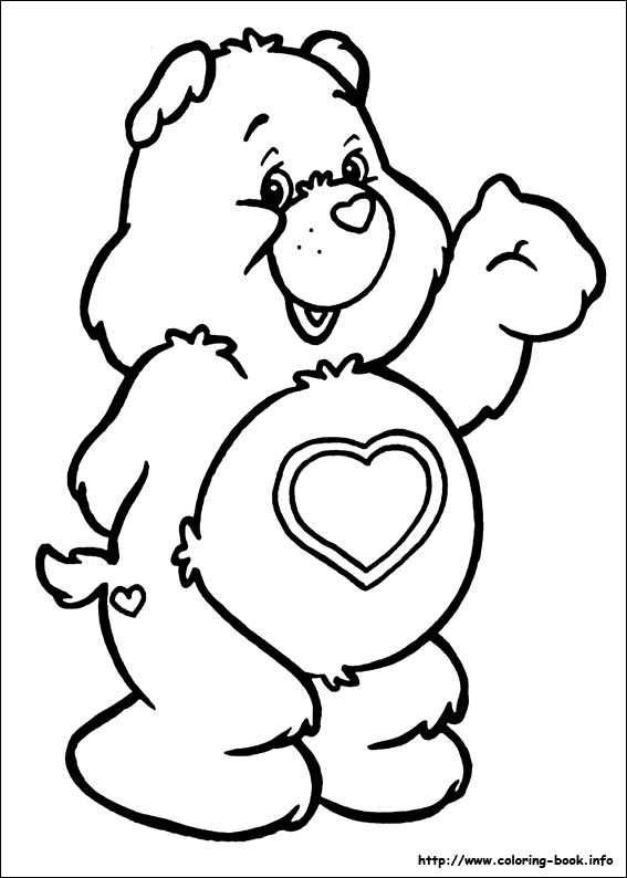 567x794 The Care Bears Coloring Picture Care Bears Care