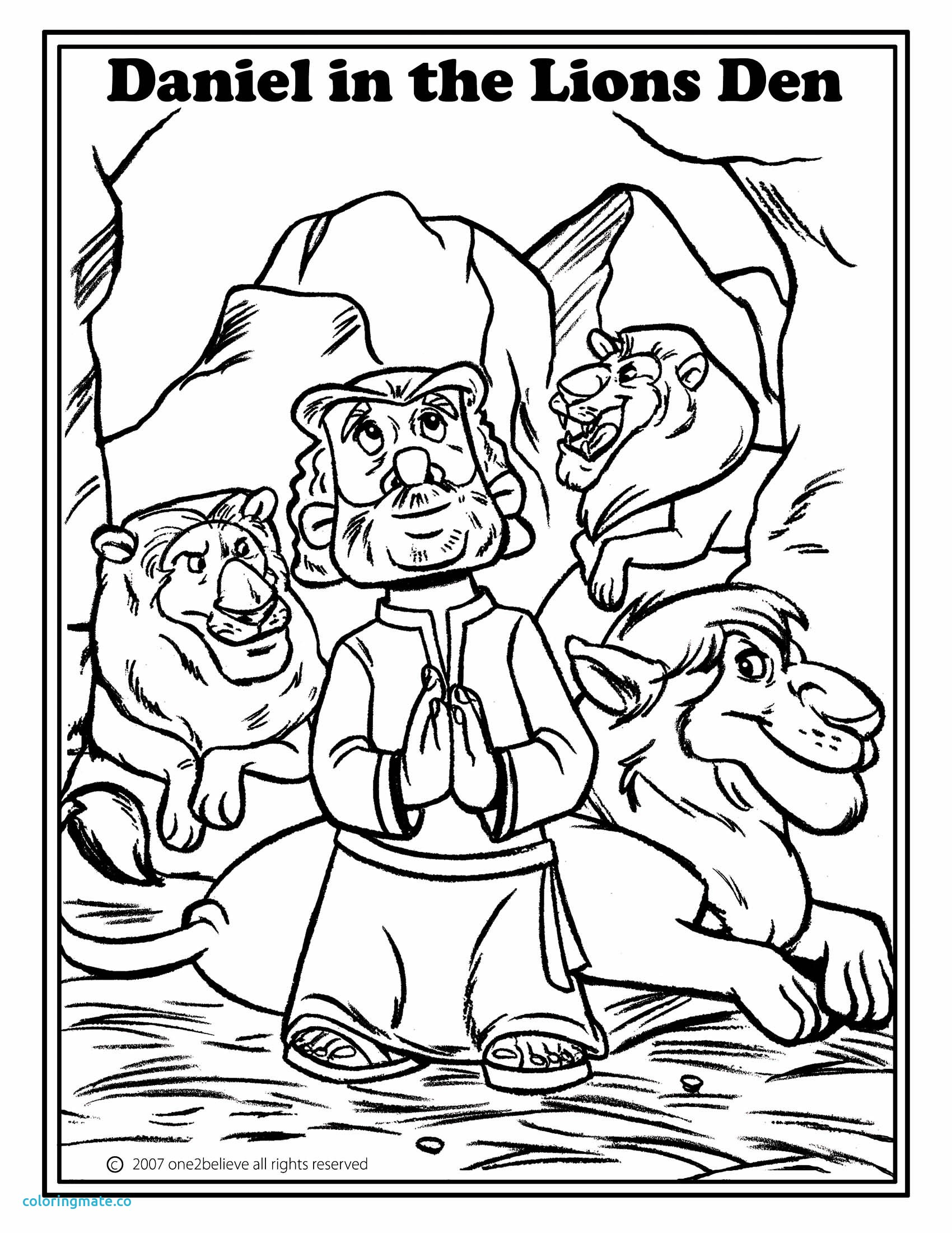 1700x2200 Refundable Daniel And The Lions Den Coloring Page With Wallpaper