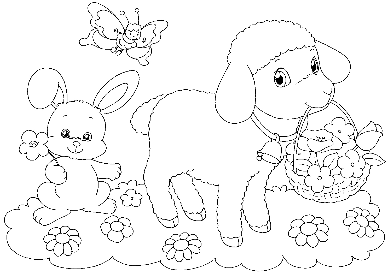 1485x1050 Lamb Coloring Page With Wallpaper Hd Background Mayapurjacouture