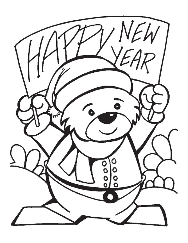 612x792 Best New Year Banner Coloring Pages Download Free New Year Banner