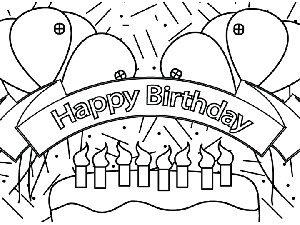 300x225 Birthday Coloring Pages