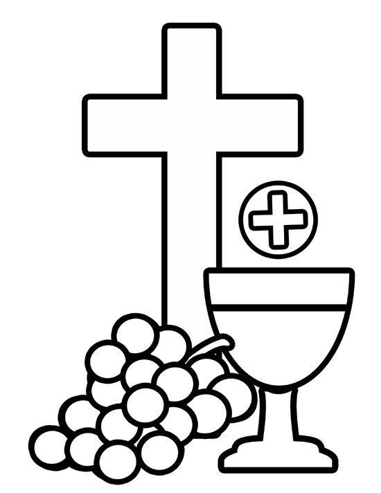 550x712 Body Of Christ Blood Of Christ Grapes And Cross Coloring Page