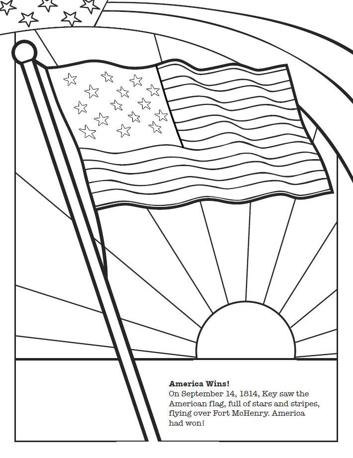 710x921 Image Result For Star Spangled Banner Song Coloring Sheet Flag