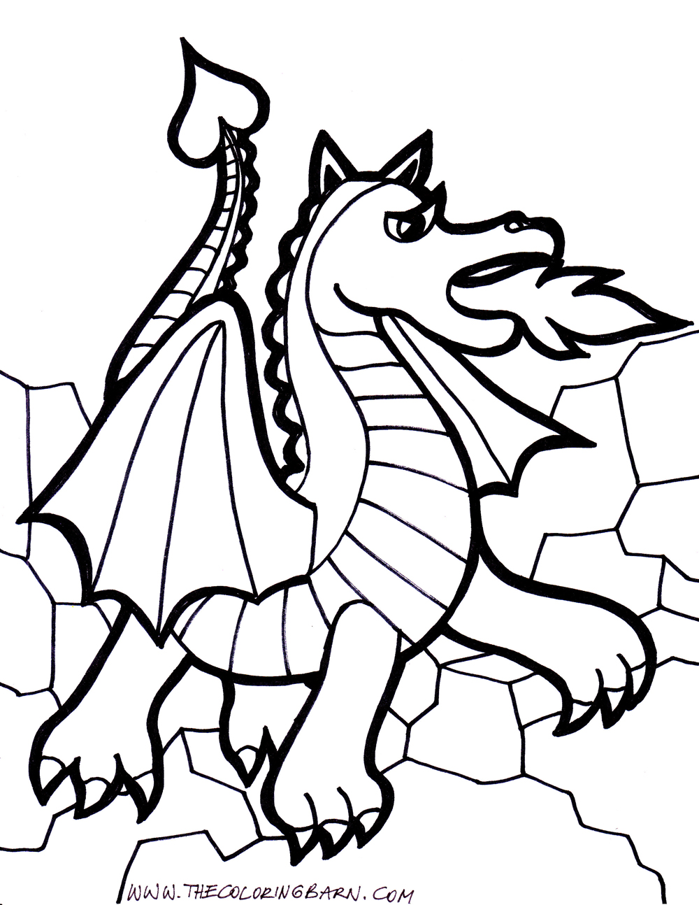 1000x1294 Wondrous Inspration Coloring Pages Dragons Dragon With Banner Site