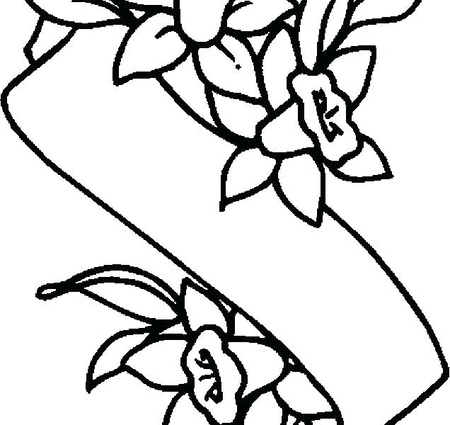 636x600 Banner Coloring Pages Banner Coloring Pages Lily Banner Coloring