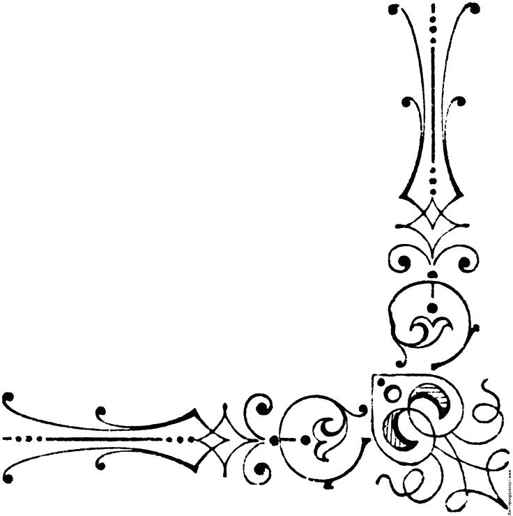 736x740 Corner Borders Coloring Page Best Corner Border Ideas On Cute