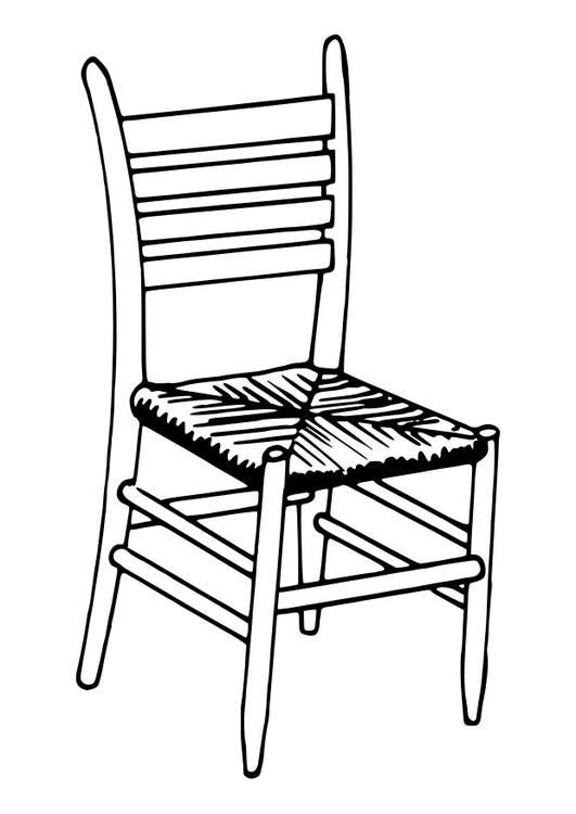 531x750 Coloring Page Chair