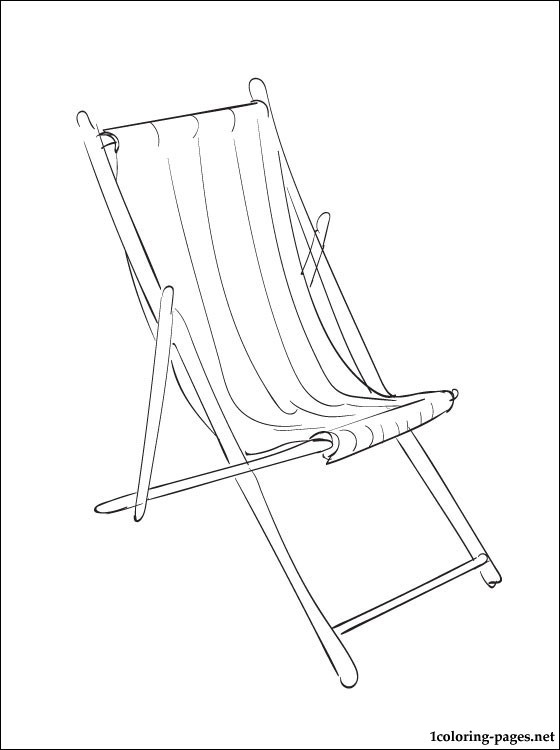 560x750 Coloring Page Deckchair Coloring Pages