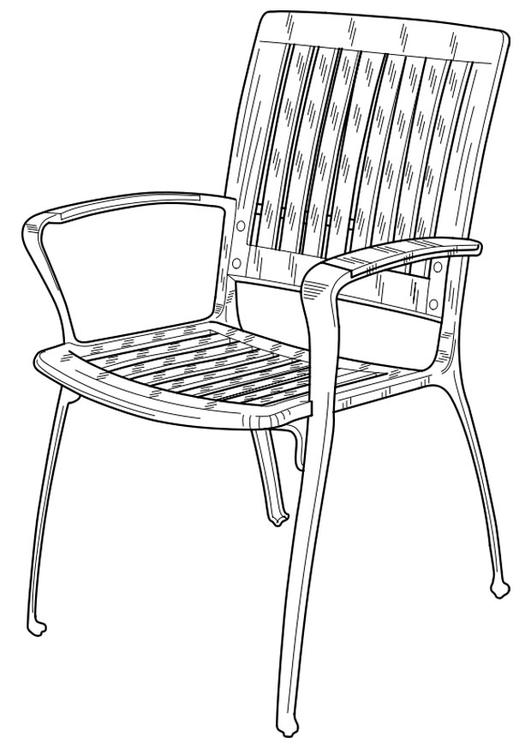 531x750 Coloring Page Garden Chair
