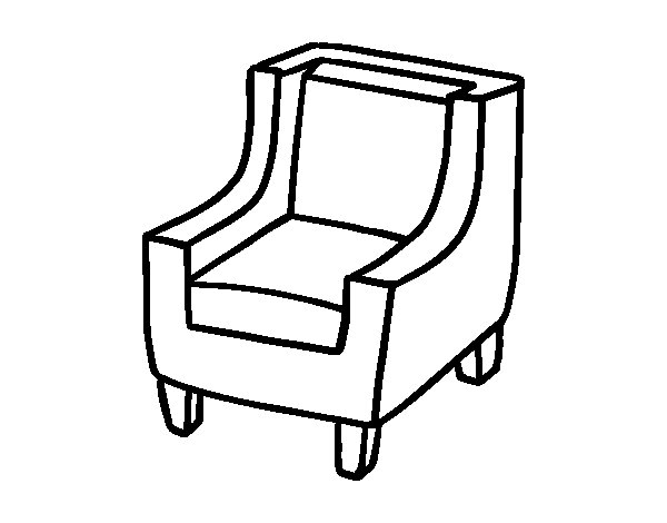 600x470 Comfortable Armchair Coloring Page