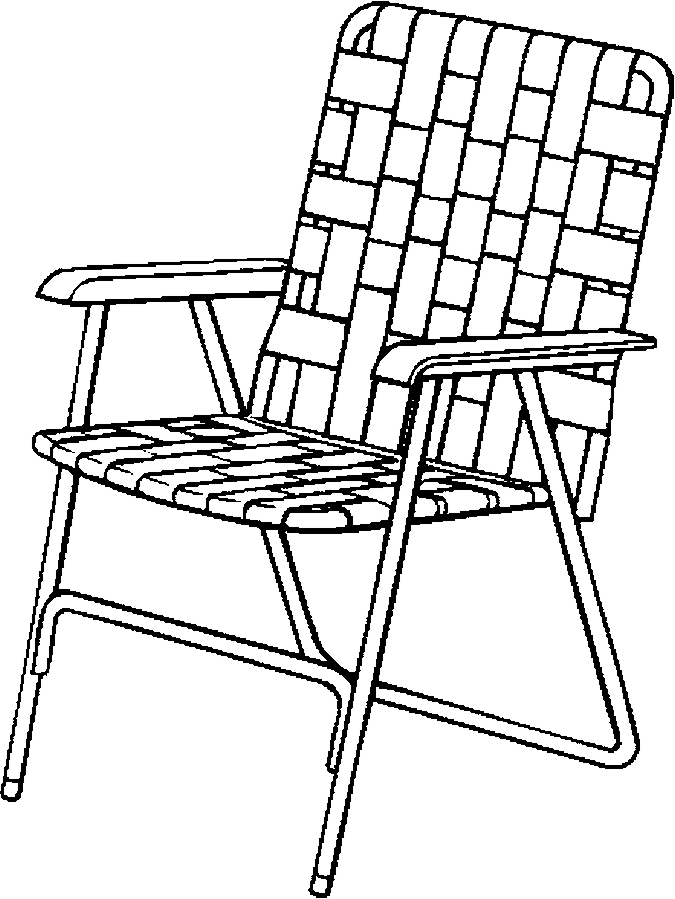 675x899 Lawn Chair Folding Coloring Page