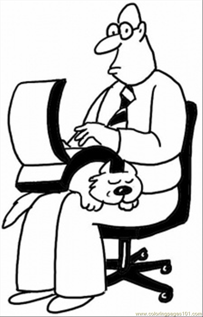 650x1015 On The Chair With Laptop Coloring Page