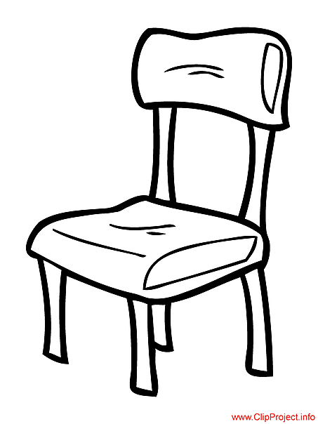 453x604 School Chair Coloring Page