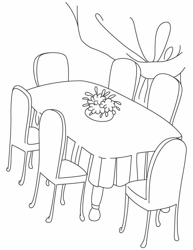 738x954 Six Chair Dinning Table Coloring Pages Download Free Six Chair