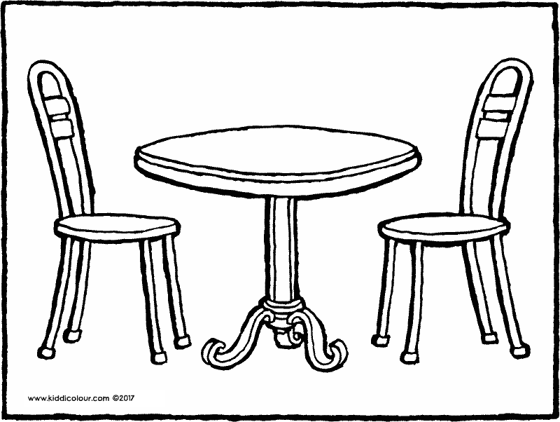 800x602 Table And Chair Coloring Page