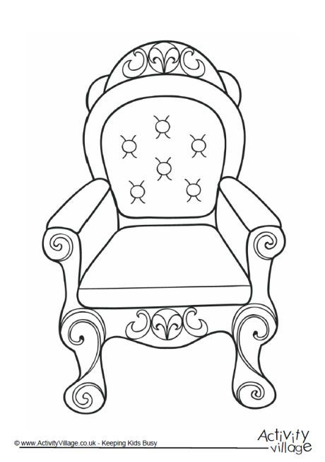 460x653 Throne Colouring Page Queens Birthday Fundraising
