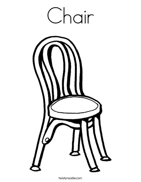468x605 Chair Coloring Page